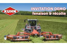 Démonstration de fauchage et récolte  KUHN - Vendredi 10 septembre 2021